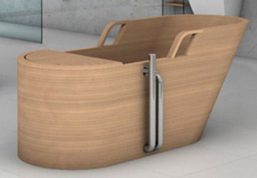 Wooden bathtub by Plavisdesign