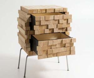Wooden Heap : Secret Box Storage by Boris Dennler