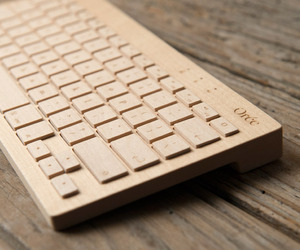 Wooden Keyboard by Orée