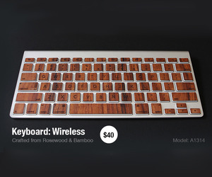 Wooden Keys for Macbook & Desktop