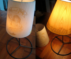 Wooden lampshades by M&M