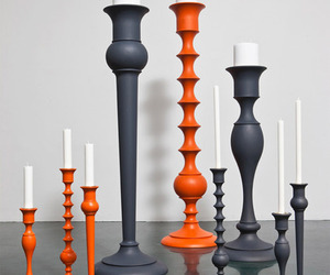 Wooden Pillar Candle Stands by Anki Gneib