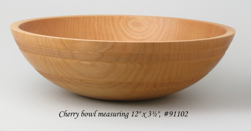 Wooden salad bowl in cherry