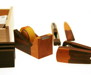 Wooden Stationery Set