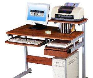Woodgrain Computer Desk by Techni Mobili