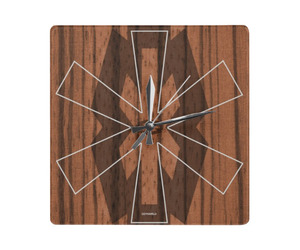 woody square wall clock by dzynwrld