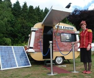 Worlds Smallest Solar-Powered Cinema