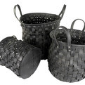 Woven Recycled Tire Storage Baskets