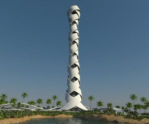 Woven Tower In Dubai By Giuseppe Farris and Stefan Schöning