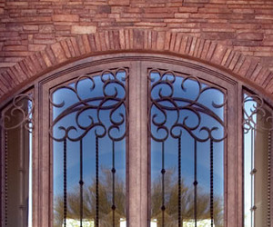 Wrought Iron Entry by Colletti Design