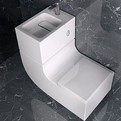 W+W combination sink and toilet by Roca