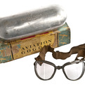 WWII AO Air-Way Aviation Goggles in Original Box