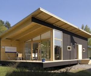 X House, A Very Modern Log Cabin