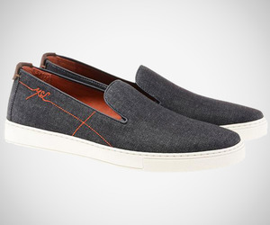 Yves Saint Laurent Denim Slip-On Sneakers