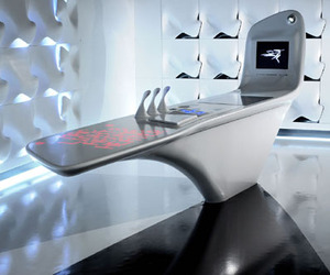 Z. Island. A High-Tech Uber Modern Corian Kitchen.